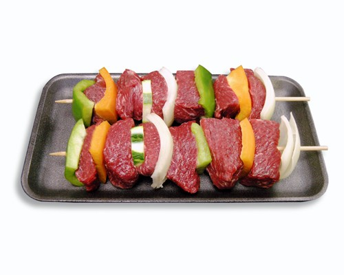 Kosher S.S. Beef Kabob w/ Vegetables
